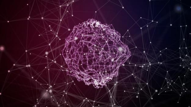 Concepto de red de comunicación mundial abstracta