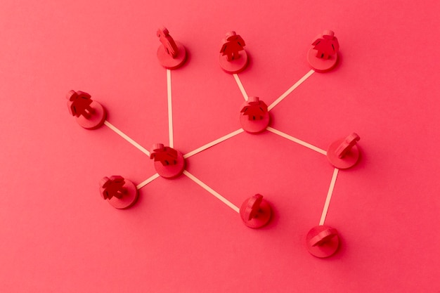 Concepto de redes de arreglo de naturaleza muerta