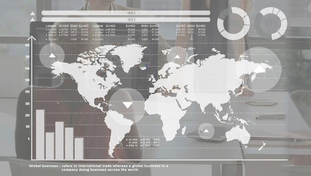 Concepto de redes de globalización de la comunidad global
