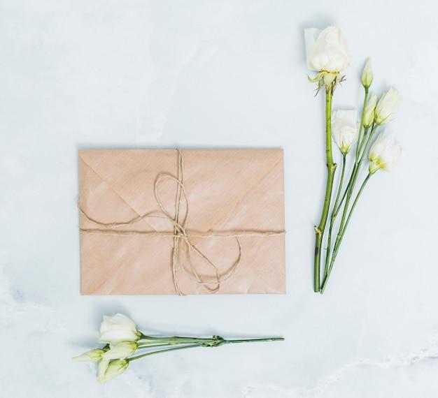 Concepto de regalo flat lay