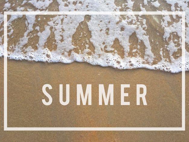 Concepto de relajación de frío de verano