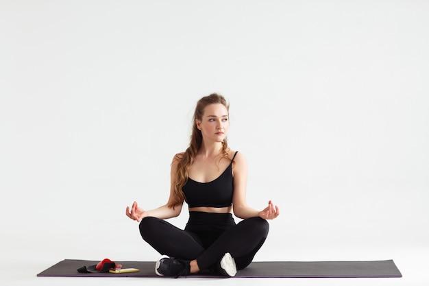 Concepto de relajación y meditación