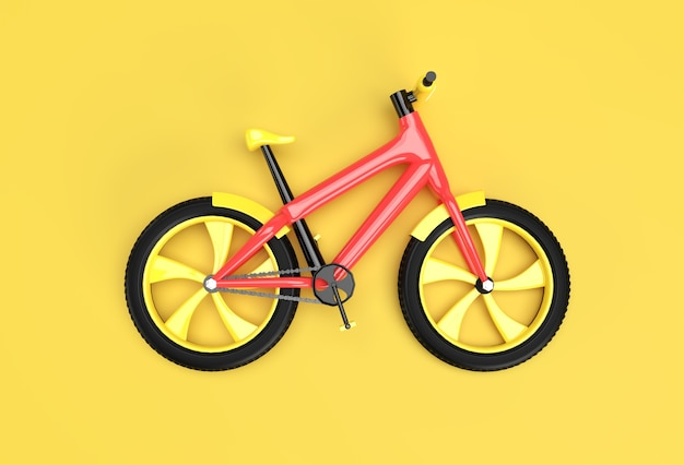 Concepto de renderizado 3d de ciclismo moderno ilustración de diseño de arte 3d.