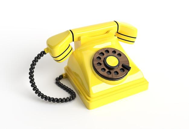 Concepto de renderizado 3d de teléfono antiguo ilustración de diseño de arte 3d.