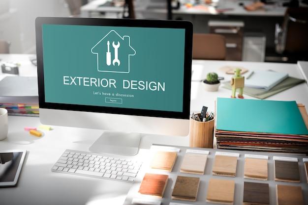Concepto de renovación del proyecto de diseño de construcción