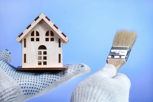 Concepto de reparación y renovación de la vivienda.