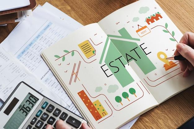 Concepto de residencia de propiedad de casa de bienes raíces