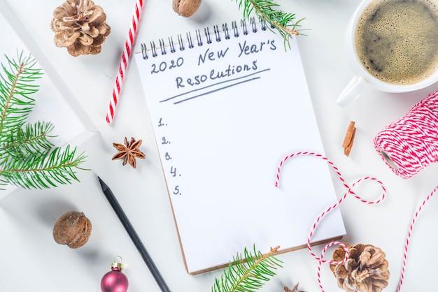 Concepto de resolución de año nuevo