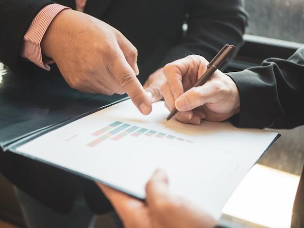 Concepto de reunión de negocios