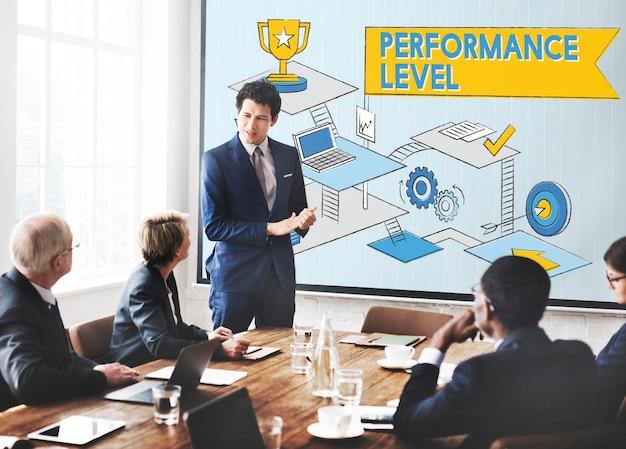 Concepto de revisión de eficiencia de mejora del nivel de rendimiento