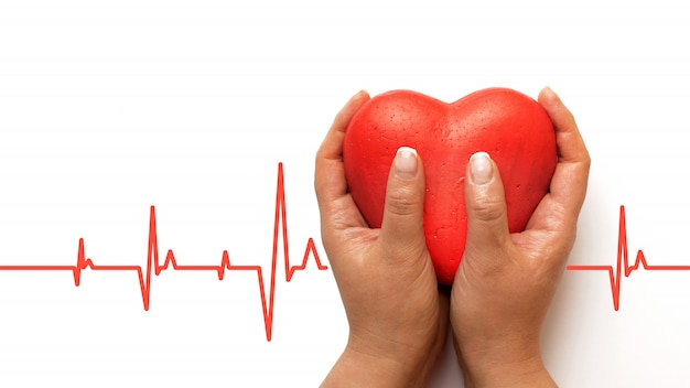 Concepto de salud, medicina, personas y cardiología.