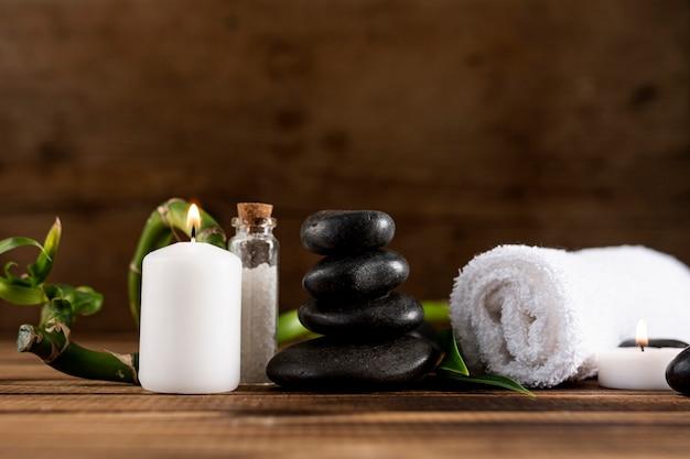 Concepto de salud con productos de spa.