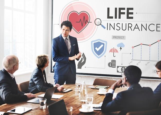 Concepto de salvaguardia del beneficiario de protección de seguro de vida