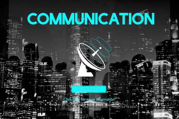 Concepto del satélite de la telecomunicación de la conexión de la difusión de la comunicación