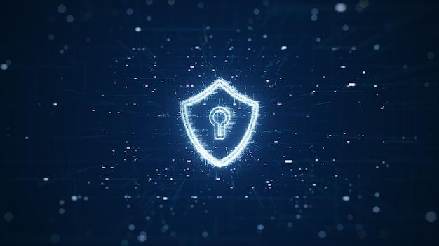 Concepto de seguridad cibernética.