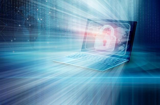 Concepto de seguridad de internet de datos digitales