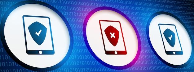 Concepto de seguridad de smartphone en digital