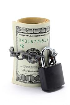 Concepto de seguro de ahorro de dinero