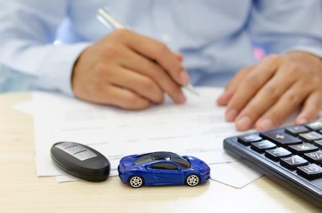 Concepto de seguro de automóvil
