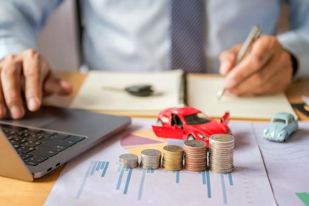 Concepto de seguro y financiación de automóviles