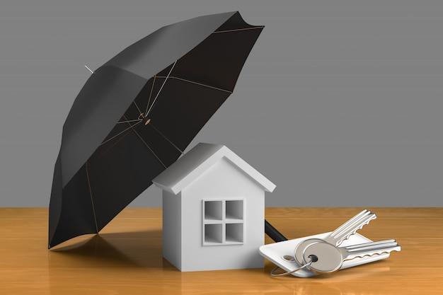 Concepto de seguro hipotecario inmobiliario