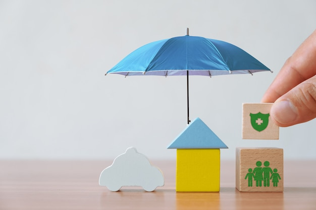 Concepto de seguros e inversiones