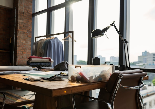 Concepto de selección de materiales de diseño de moda