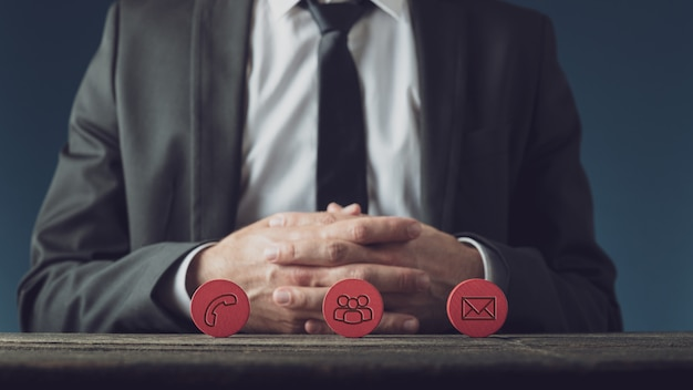 Concepto de servicio al cliente empresarial