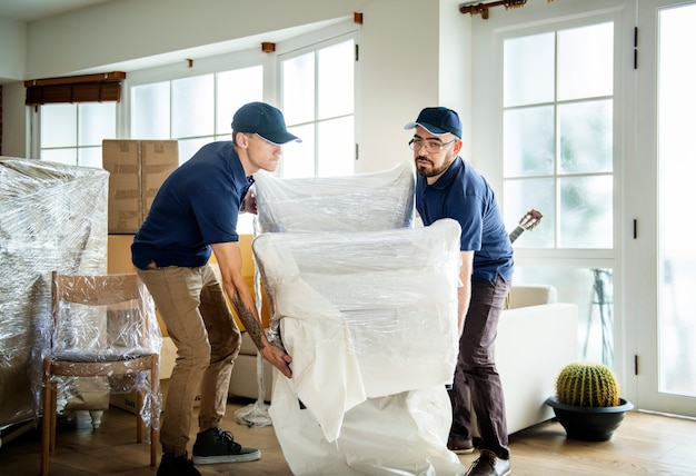 Concepto de servicio de entrega de muebles
