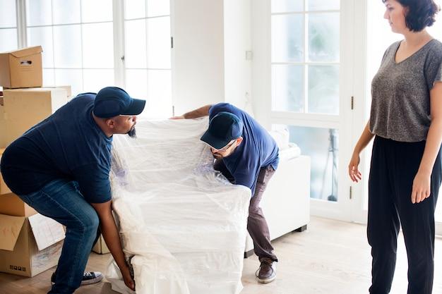 Concepto de servicio de entrega de muebles.