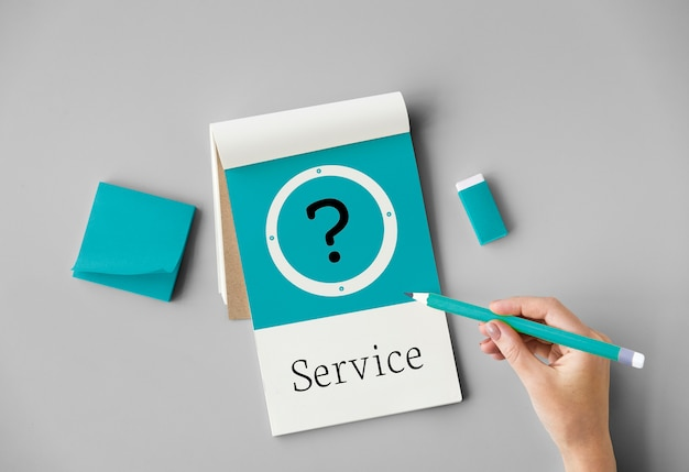 Concepto de servicio de soporte al cliente de ayuda