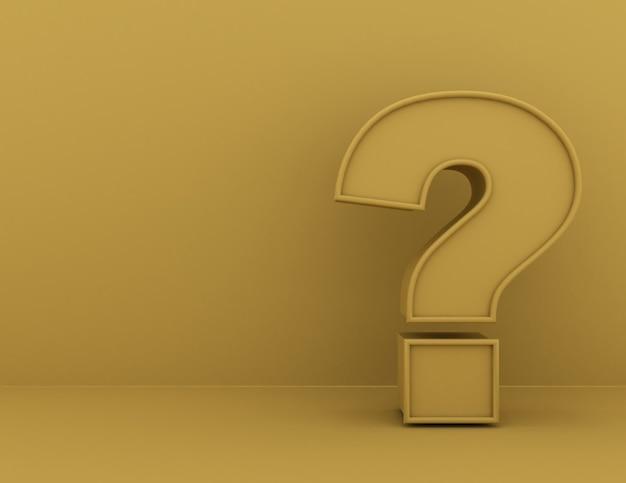 Concepto de signo de interrogación. 3d rindió la ilustración