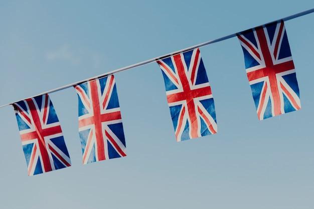 Concepto de signo nacional de bandera británica