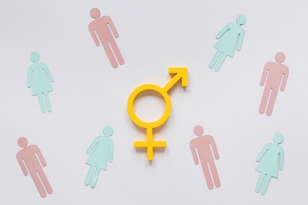 Concepto de símbolo colorido de igualdad de derechos