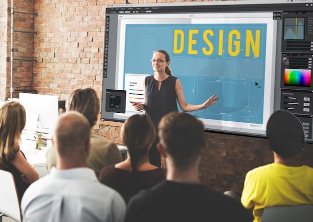 Concepto de software de plan de piso de diseño