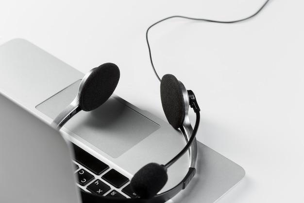 Concepto de soporte de call center