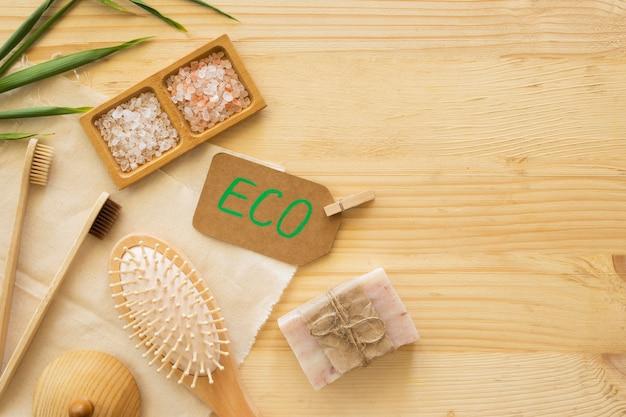 Concepto de spa de belleza y salud de productos naturales
