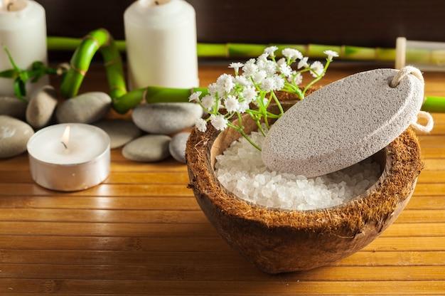Concepto de spa con diferentes elementos.