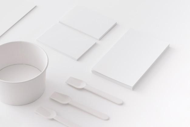 Concepto stationery de heladería