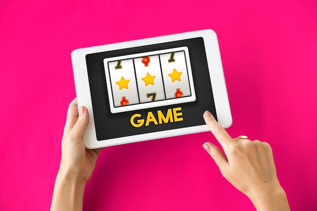Concepto de suerte de casino en línea