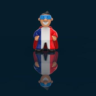 Concepto de superhéroe - ilustración 3d