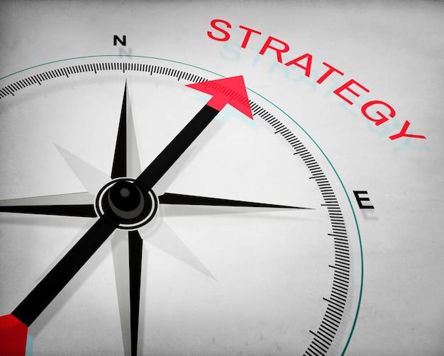Concepto de táctica de proceso de planificación de visión de estrategia