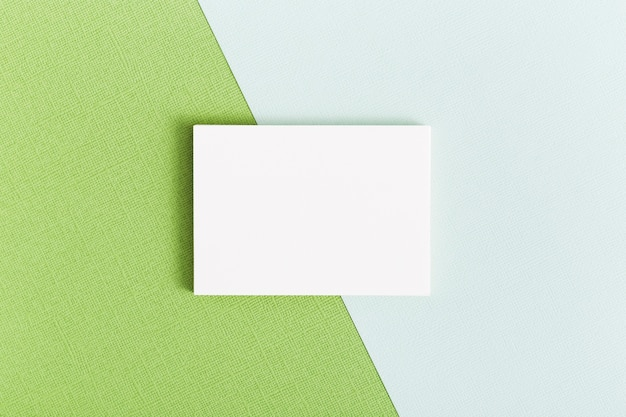 Concepto de tarjeta de visita de papelería de vista superior