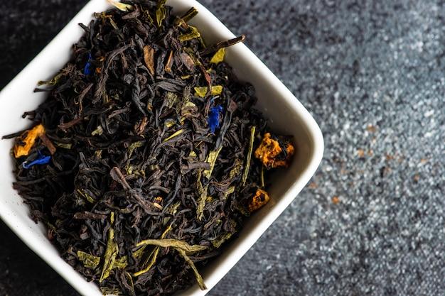 Concepto de té en piedra