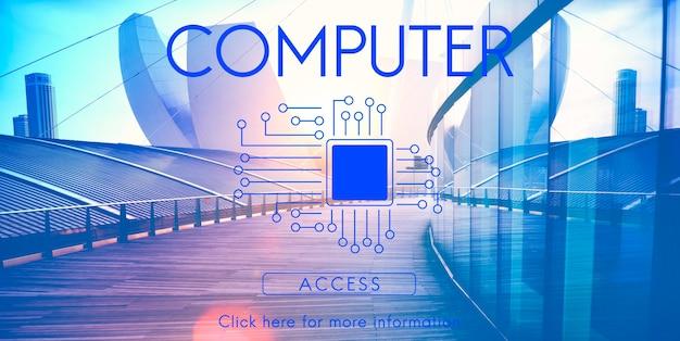Concepto de tecnología de chip de placa de circuito