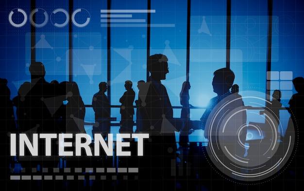 Concepto de tecnología de conexión digital de red informática