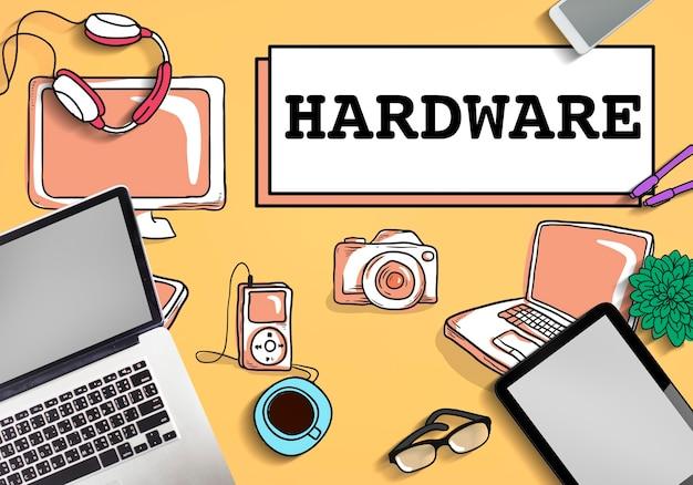 Concepto de tecnología electrónica de software de hardware