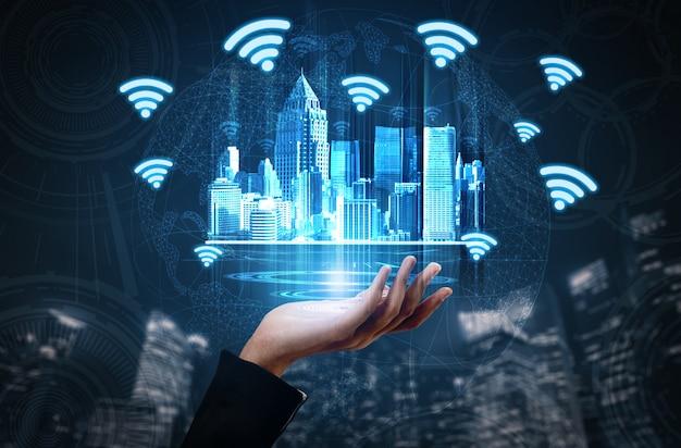 Concepto de tecnología de redes sociales y personas