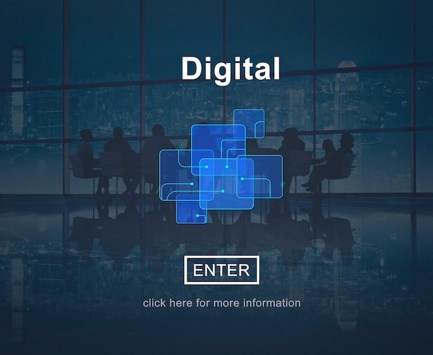 Concepto de tecnología de sitio web en línea digital