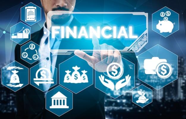 Concepto de tecnología de transacciones financieras y de dinero